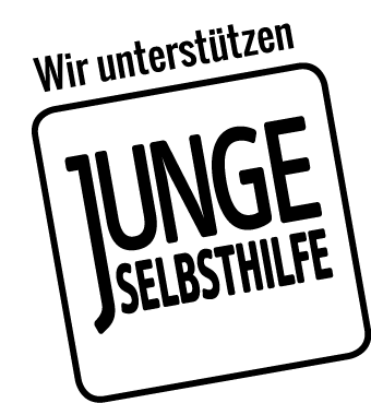 Logo wir unterstützen Junge Selbsthilfe